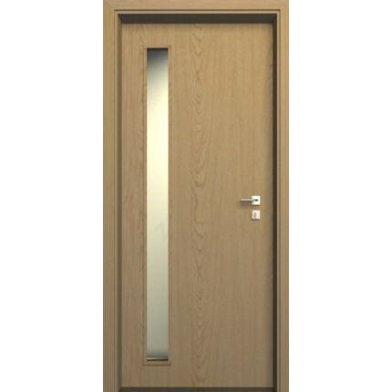 Beltéri ajtó  dekorfóliás Tölgy szín  75x210x12 cm old üv jobbos JW 50 MIX Diófa szín ÁTFOGÓ tokkal