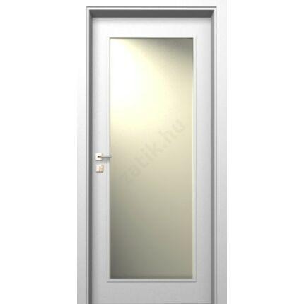 Beltéri ajtó dekorfóliás  Fehér szín 100x210x12 cm üv helyes balos MAS39 utólag szerelhető tokkal