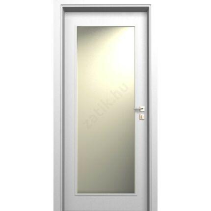 Beltéri ajtó dekorfóliás  Fehér szín  90x210x14 cm üveges jobbos MAS40 utólag szerelhető tokkal