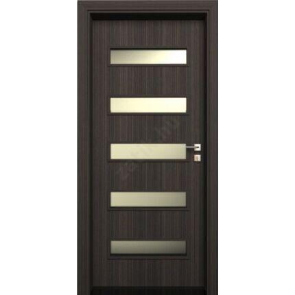 Beltéri  ajtó dekorfóliás ÁTJÁRÓ TOK makaszar ében 75x210x12 cm utólagszerelhető tolóajtókhoz