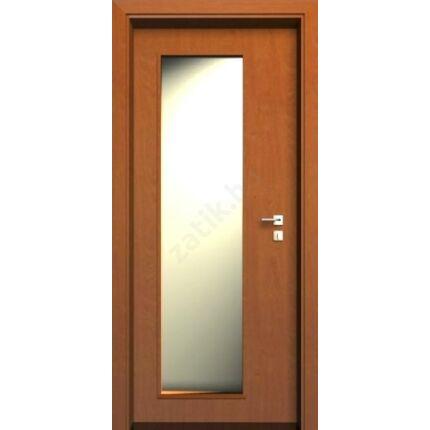 Beltéri ajtó dekorfóliás  Éger szín 100x210x10 cm ÜVN jobb MAS115 utólag szerelhető tokkal