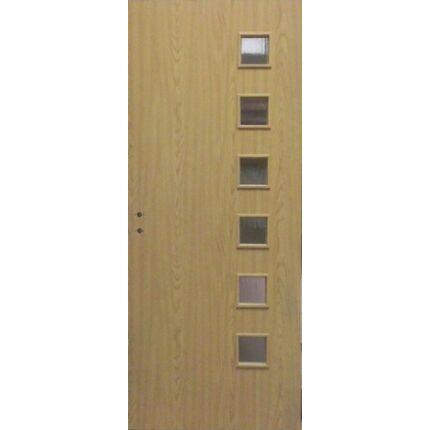 Beltéri ajtó dekorfóliás  Tölgy szín  90x203x12 cm 3 üveges jobbos MAS108 utólag szerelhető tokkal