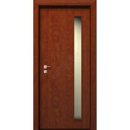 Beltéri ajtó dekorfóliás Calvados szín 75x210 oldal üveges A jobbos XL BT43 BLOKK TOKKAL szépséghibá