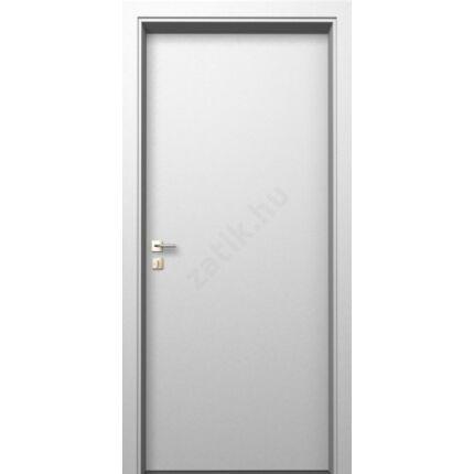 Beltéri ajtó  dekorfóliás    Fehér szín  90x212x12 cm tele balos DIN E19  utólag szerelhető tokkal