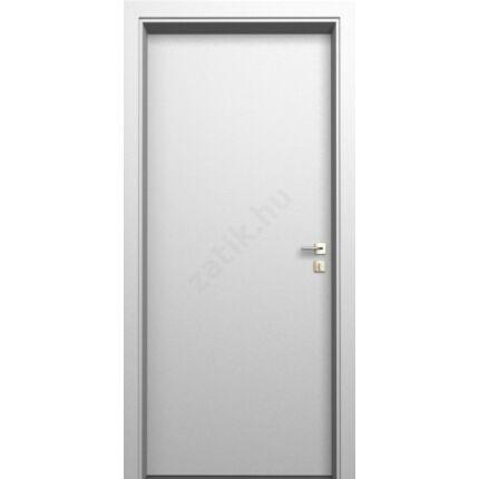 Beltéri ajtó  dekorfóliás    Fehér szín  90x212x14 cm tele jobbos DIN E28  utólag szerelhető tokkal