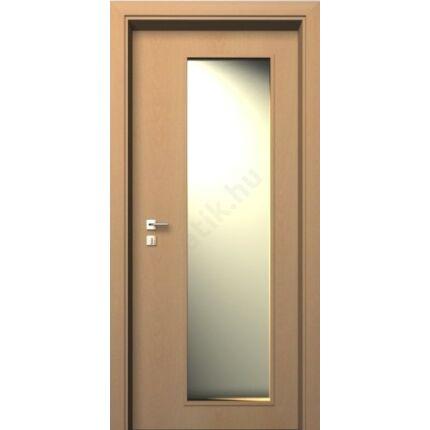 Beltéri ajtó  dekorfóliás Bükk szín  90x210x33 cm üveges jobb JW 72 utólag szerelhető ÁTFOGÓ tokkal