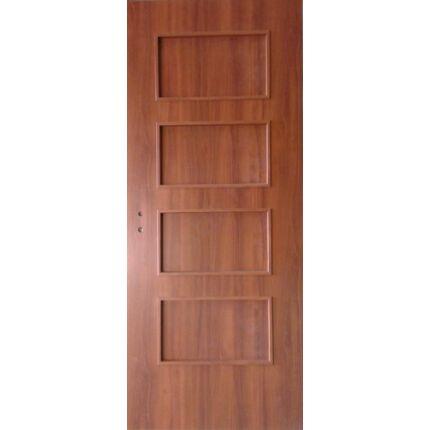 Beltéri ajtó dekorfóliás diófa szín  90x210x12 cm 4 kazettás jobbos MIX KOMBI CS ÍV23  íves tokkal
