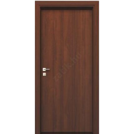 Beltéri ajtó dekorfóliás  dió szín  75x210x12 cm  tele balos MAS153 kör szellőzővel