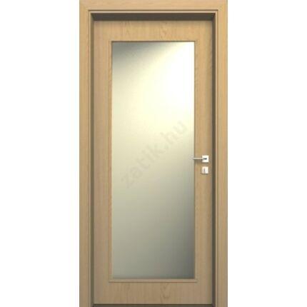 Beltéri ajtó dekorfóliás  Tölgy szín 75x210x12 cm ÜV jobbos MAS24 utólag szerelhető tokkal