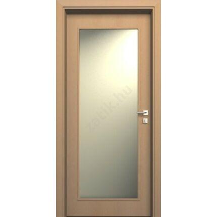 Beltéri ajtó dekorfóliás  Bükk szín 100x210x10 cm ÜVN jobbos  MAS162 üveg törött