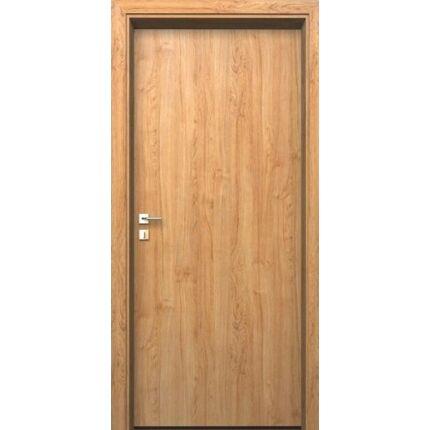 Beltéri ajtó dekorfóliás  Éger szín  65x210x10 cm tele jobbos MAS167 útólag szerelhető tokkal