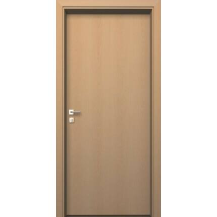 Beltéri ajtó  dekorfóliás    Bükk szín  100x202x12 cm tele bal MIX FEHÉR DIN E54  utólag szerelhet