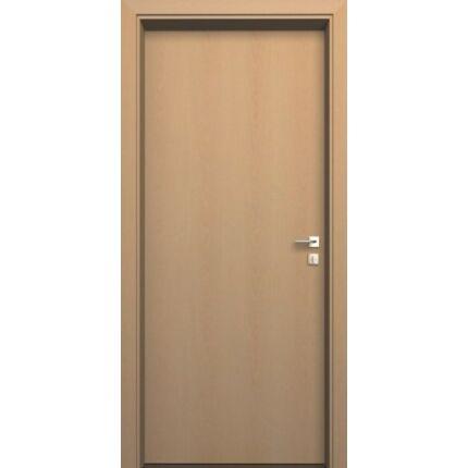 Beltéri ajtó  dekorfóliás    Bükk szín   90x202x14 cm üveges jobbos MIX FEHÉR DIN E48  utólag szer