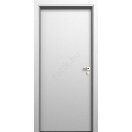 Beltéri ajtó  dekorfóliás    Fehér szín  75x212x12 cm tele jobbos XL DIN E57  utólag szerelhető tok