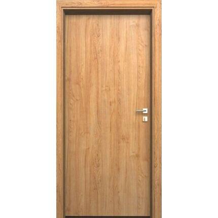 Beltéri ajtó dekorfóliás  Éger szín  65x210x12 cm tele jobbos MAS178  utólag szerelhető tokkal