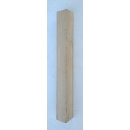 Asztalláb négyszög tölgyfa 90x90x750 mm 45 fokban letört éllel MF HU++