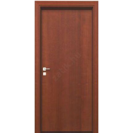 Beltéri ajtó dekorfóliás mahagoni szín  90x210x 9 cm tele balos ÍV44 elegáns íves tokkal