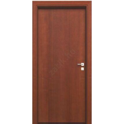 Beltéri ajtó dekorfóliás mahagoni szín  90x210x12 cm tele jobbos MIX AKÁC ÍV47  íves tokkal