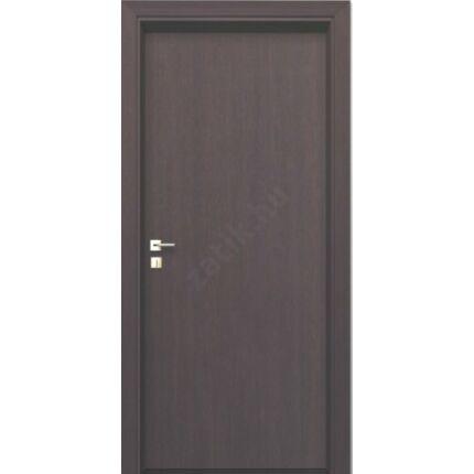 Beltéri ajtó dekorfóliás Wenge szín  75x210x12 cm tele balos ÍV48 elegáns íves tokkal