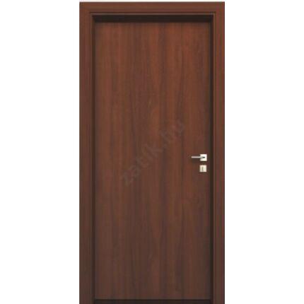 Beltéri ajtó dekorfóliás diófa szín  75x210x16 cm tele jobbos  ÍV57 elegáns íves tokkal