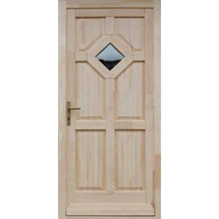 Bejárati ajtó borovi fenyő 100x210 cm TARNA2 balos 1 üveges 5 ponton záródó DE HU++