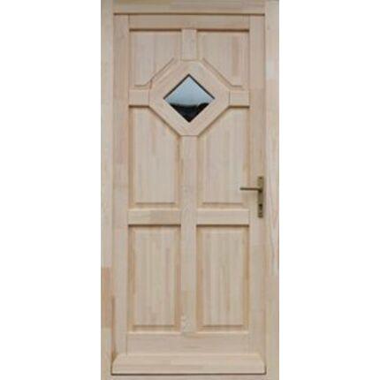 Bejárati ajtó borovi fenyő 100x210 cm TARNA2 jobbos 1 üveges 5 ponton záródó DE HU++