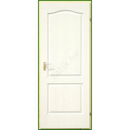 Beltéri ajtó  dekorfóliás    Fehér szín  75x212x12 cm tele balos DIN E56  utólag szerelhető tokka