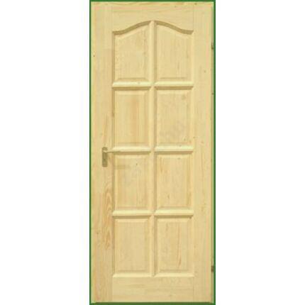 Beltéri ajtó lucfenyő 8 kazettás íves  75x210 cm tele jobbos palló tokos DE HU++