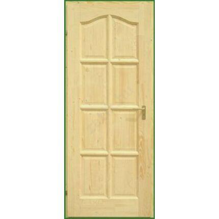 Beltéri ajtó lucfenyő 8 kazettás íves 100x210 cm tele balos palló tokos DE HU++
