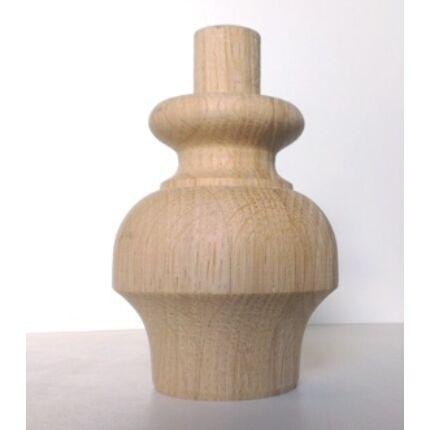 Bútorláb fa szekrényláb A típus tölgy átm.  60x80 mm esztergált MF HU+