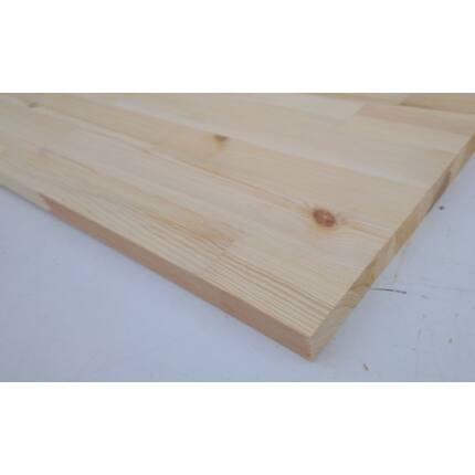 Konyhai munkalap táblásított borovi fenyő HT 32 mm 2000x650 mm A min. 1,3 m2/tábla HU+