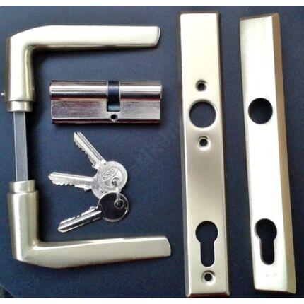 Bejárati ajtó kilincs PZ 92 ALU F2  3 csapos MASONITE