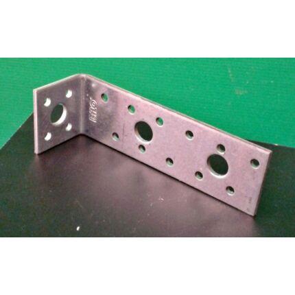Hajlított perforált acél lemez 40x130x35x3 mm csomóponti horganyzott sarokvas OR